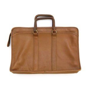 BRIEFCASE Men's Rust Brown Leather Work Business